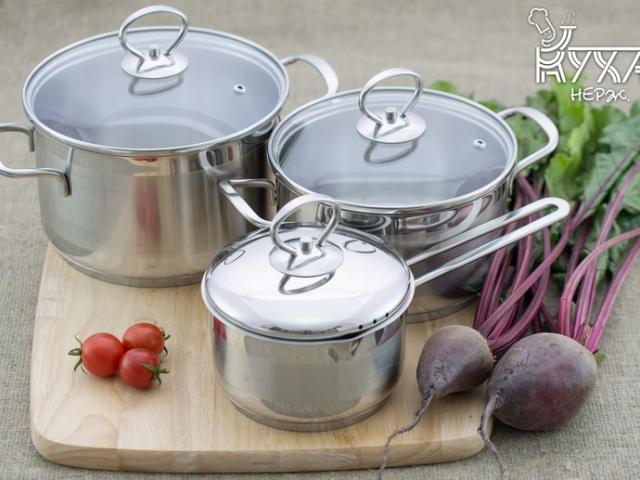 КУХАР<sup>TM</sup> посуда из нержавеющей стали